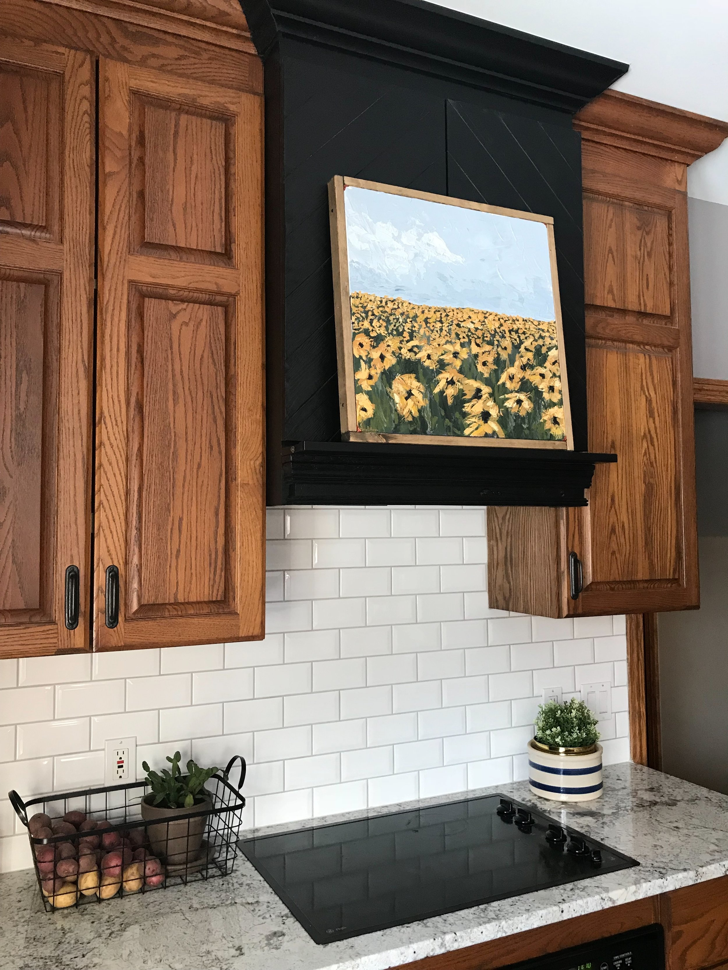 Oak Cabinets An Artist S Blog About Art Wallpaper Decor Margaritas And Everything You Ve Ever Wanted To Read Copper Corners