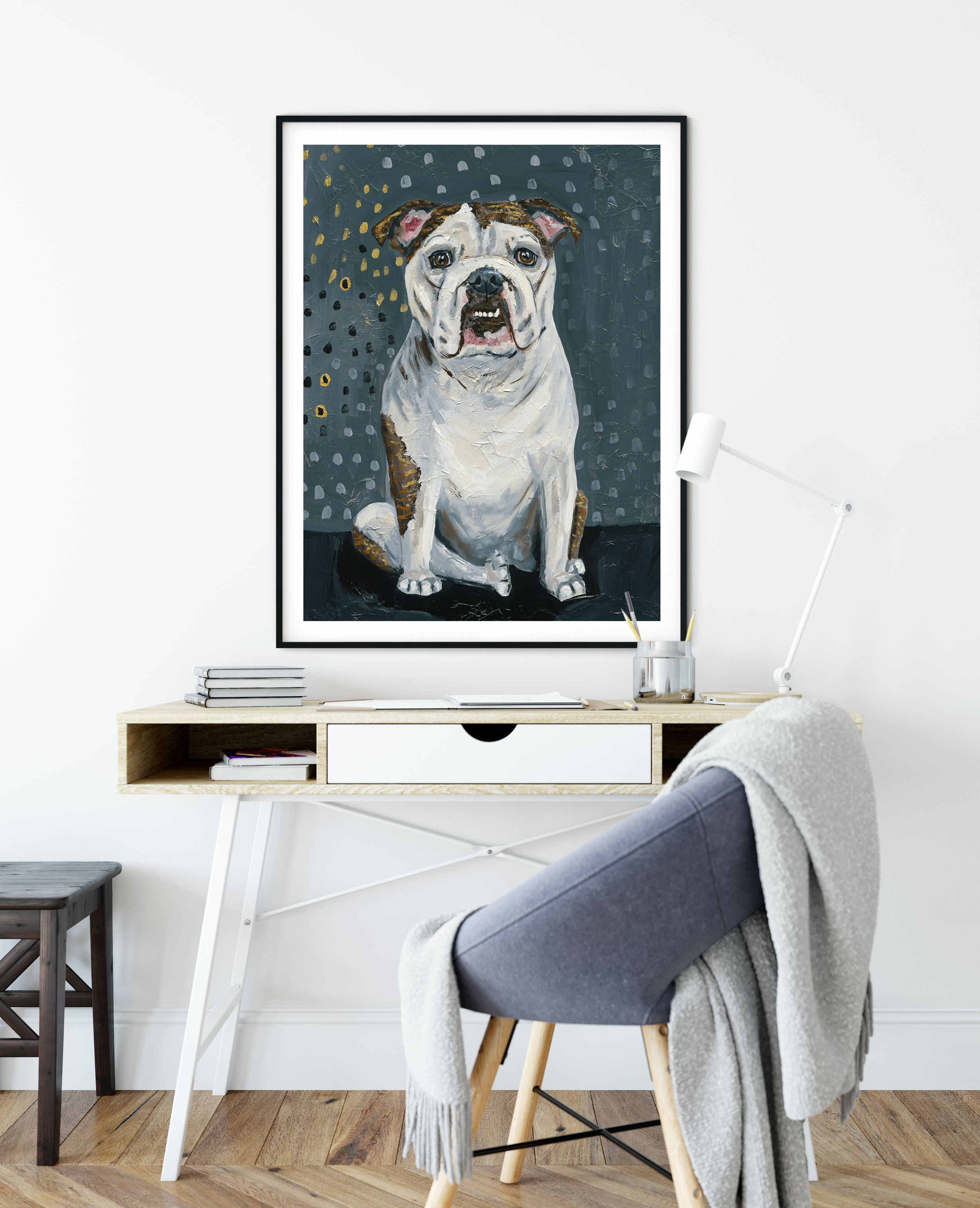Bulldog eyes -