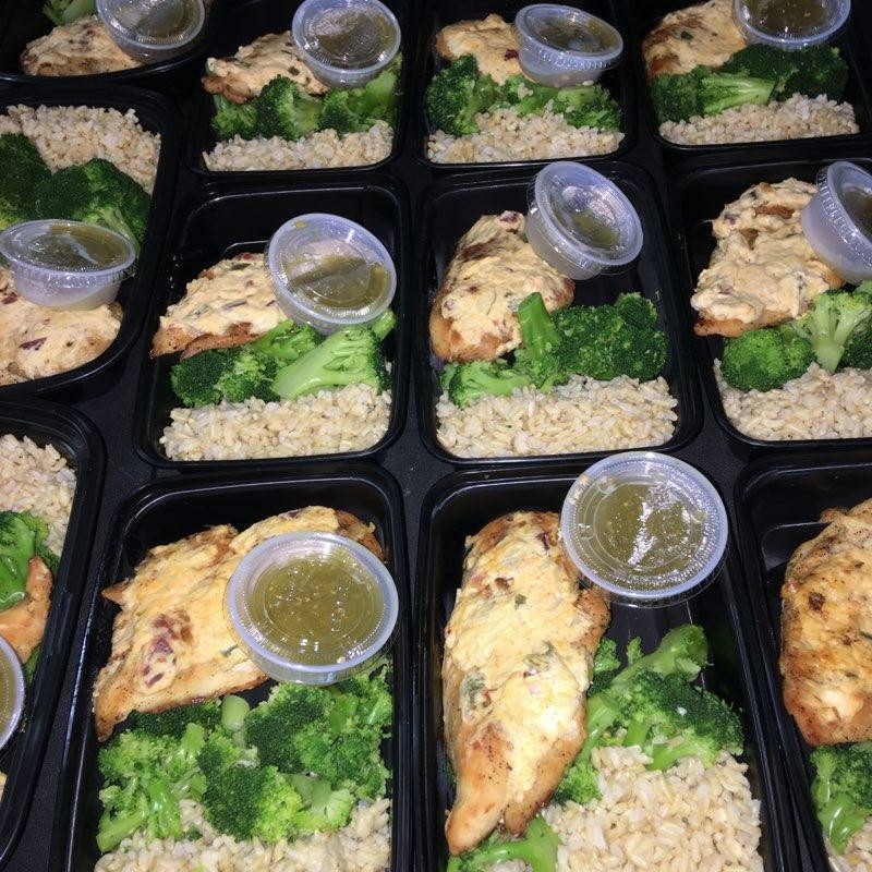 Jalapeno Popper Baked Chicken  If you enjoy jalapeno poppers, you are in for a treat! You will enjoy juicy flavor packed chicken breast topped with my special creamy jalapeno popper mix. Served with a side of brown rice and broccoli.