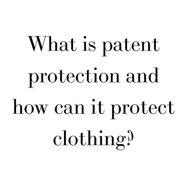 We've covered trademarks, copyrights, so let's chat about patents. Tech geeks might come to mind when you think of a patent, but there are two kinds- utility and design patents- and both can be a valuable property right for fashion companies. Due to the inherent length of time of drafting & getting a patent registered with the USPTO, patents are not ideal for super trendy items that will die out with the season. The influx of designers using design patents, however, is growing. Read more on the blog to learn why, and to get an idea as to what a patent registration looks like💡🤖 #patent #patentlaw #luxury #nyfw #copyright #dressfromthefeetup #fashionweek #runway #publication #ecofriendlyfashion #fashiontrends #fashionrevolution #trademark #tradedress #wearyourvalues #fashionlawyer #fashion #infringement #qualityoverquantity #intellectualproperty #law #lawyer #iplaw #newyork #fashionlaw #nyc #businessoffashion #protectyourdesign #lawyer