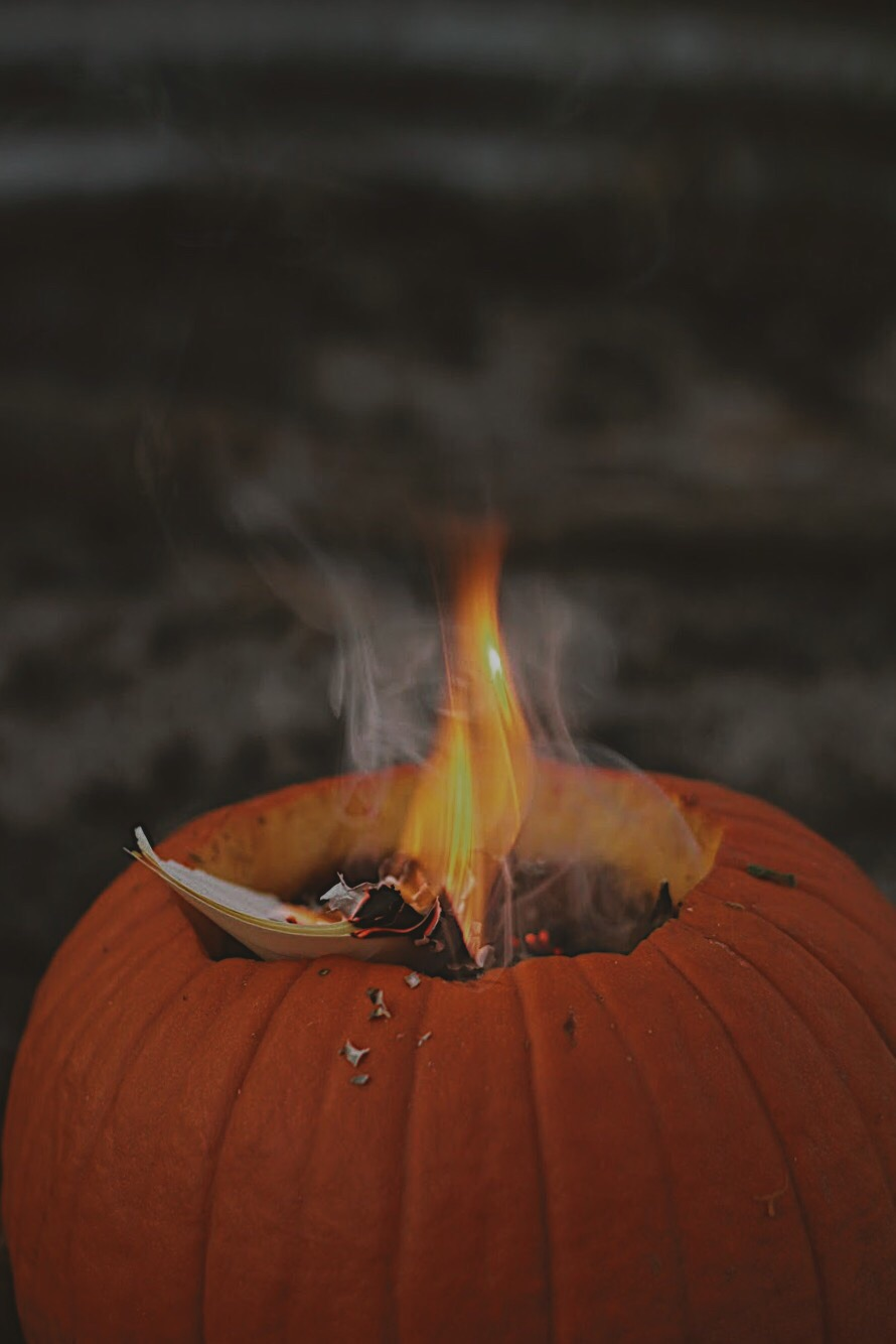 SAMHAIN SACRIFICAL FLAME - clear away the excess - give back the earth - freshen and ground for the dark season