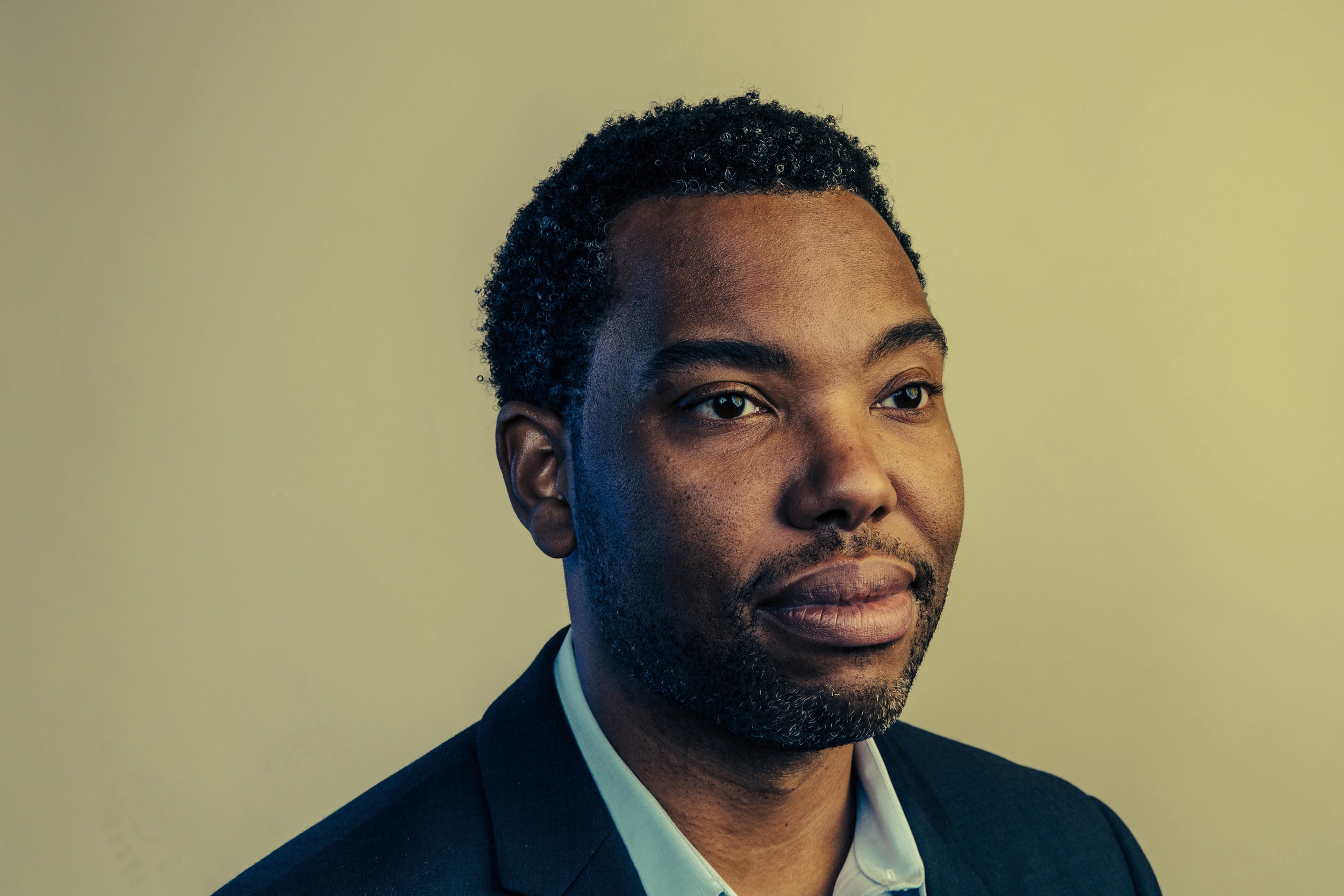 Ta-Nehisi Coates photographed by Bryan Stevenson for Time Magazine