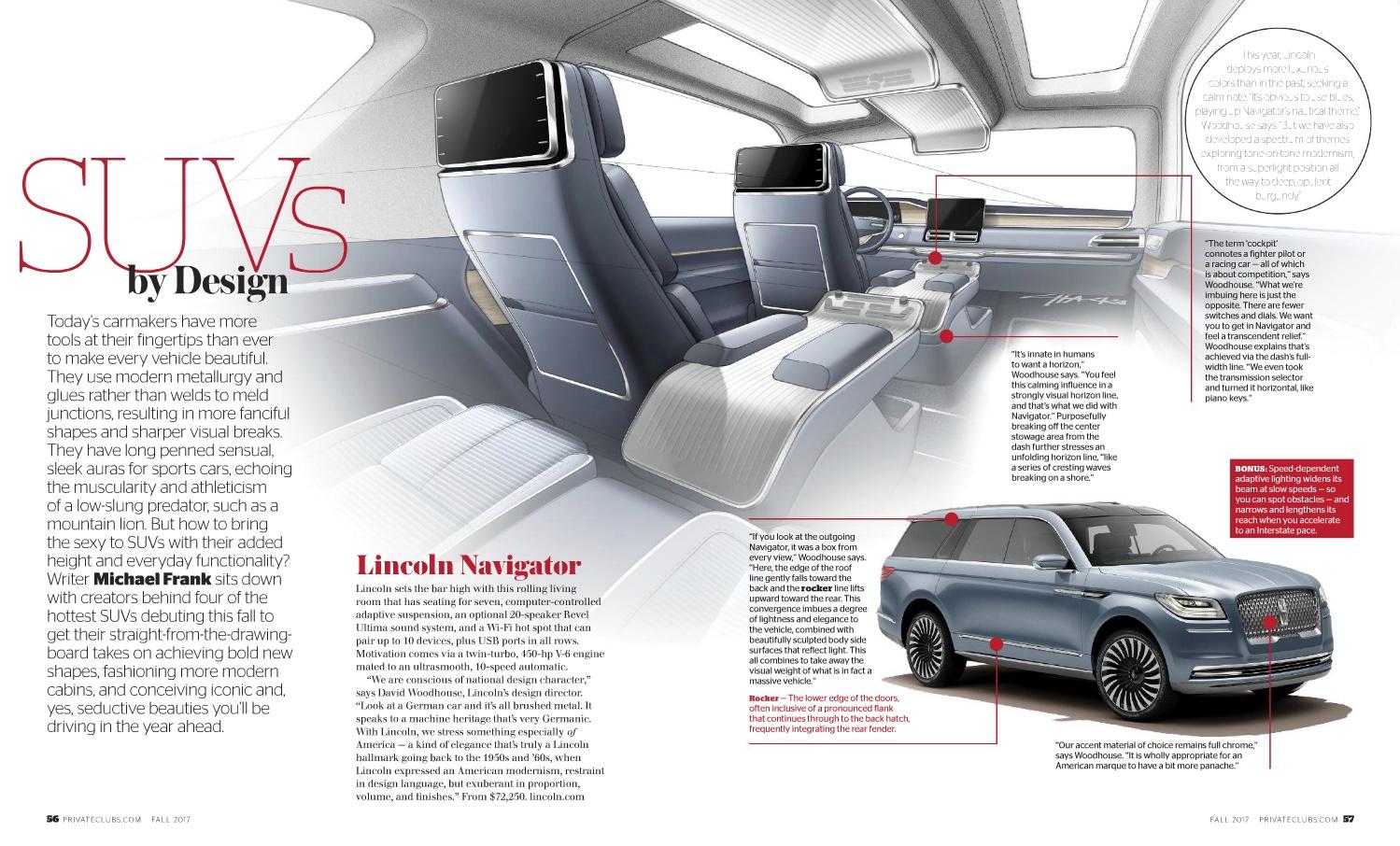 Private Clubs: Designing Beautiful SUVs