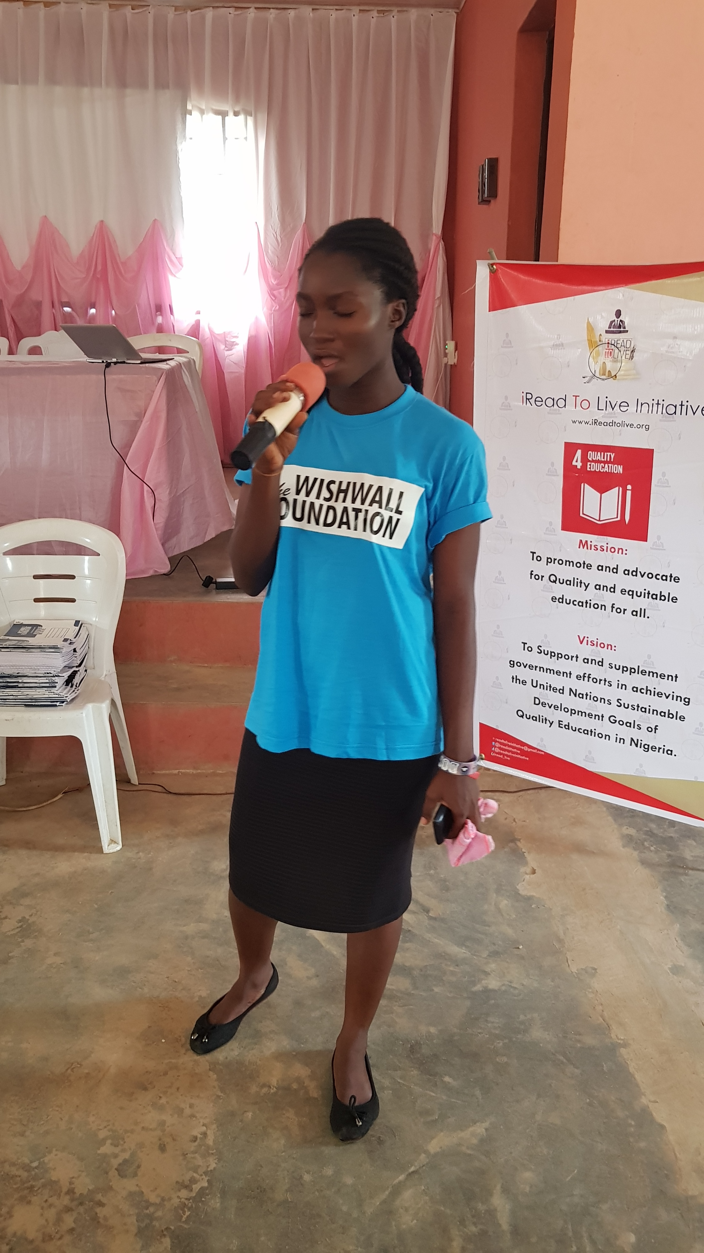 Vice President, National Ifetedo Students Union- Idowu Christianah gave the Opening prayer to commence the event.