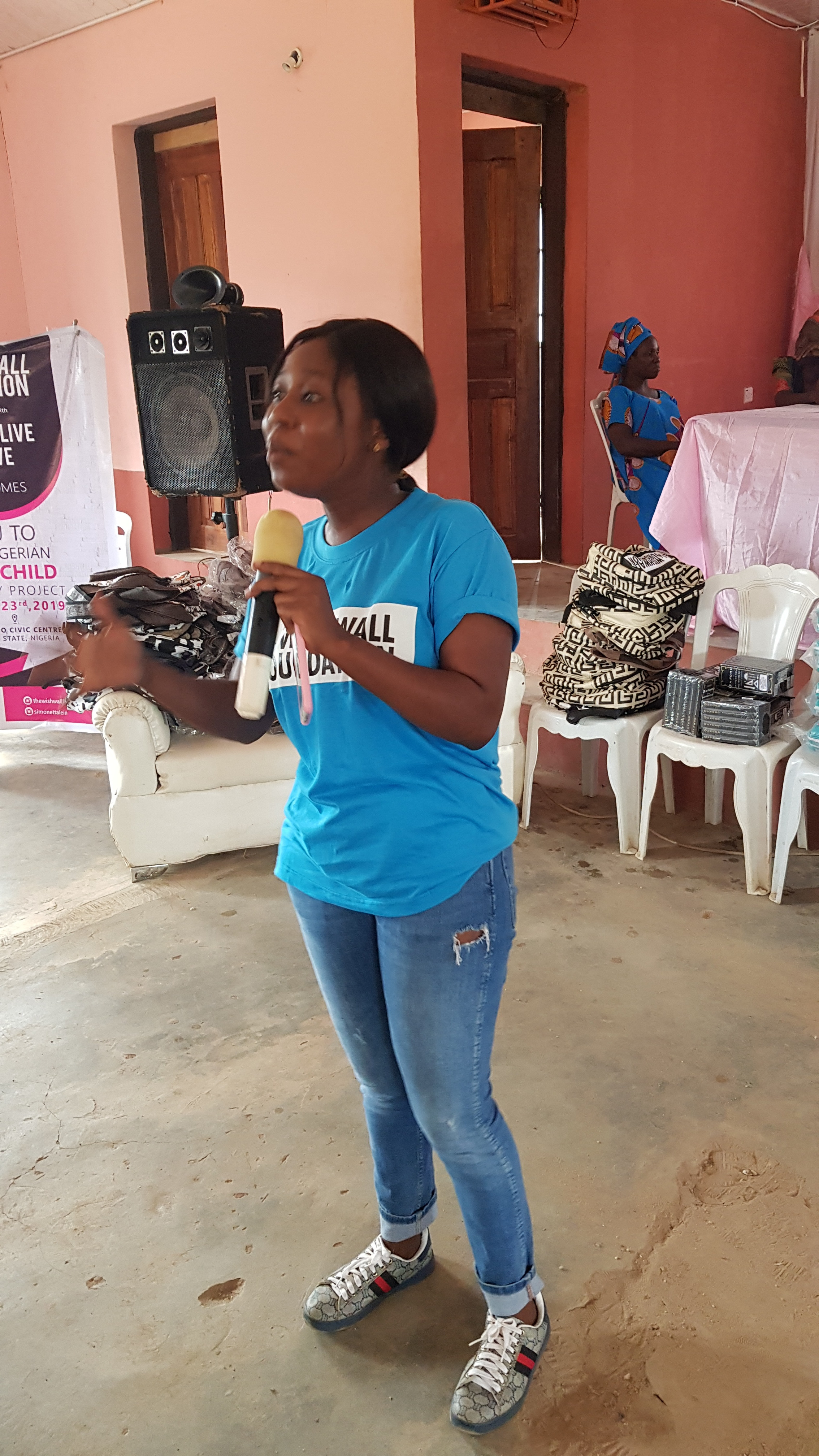 Gender Equality Advocate, Quadri Damilola- speaking on Menstrual Hygiene;Becoming a Woman.
