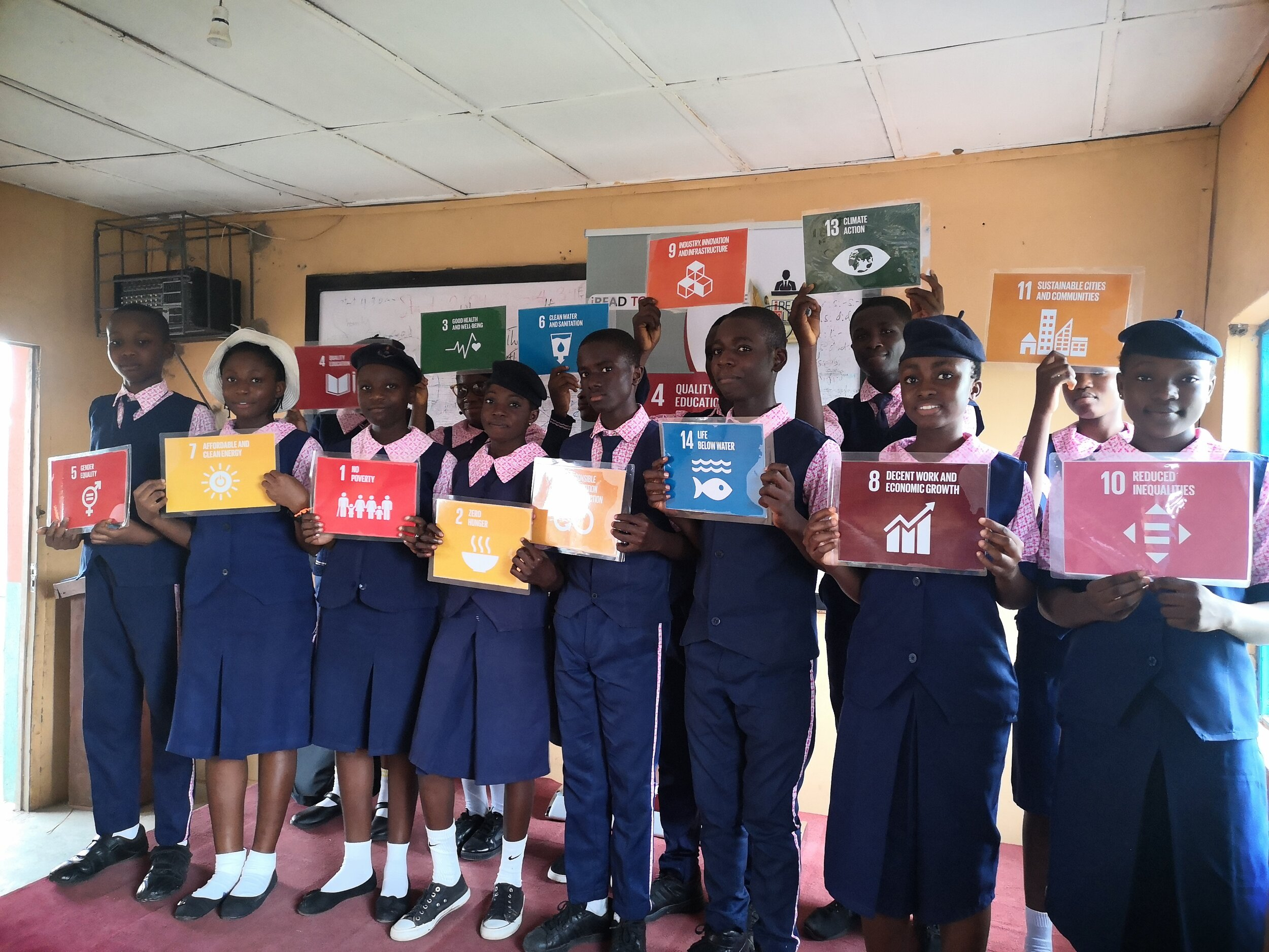 Student leaders pose with the SDGs Cards and ready to lead their peers in localizing the Global Goals.