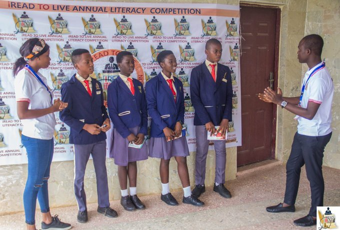 Agboola Oladotun, and Ayisat Abiona interview participating schools