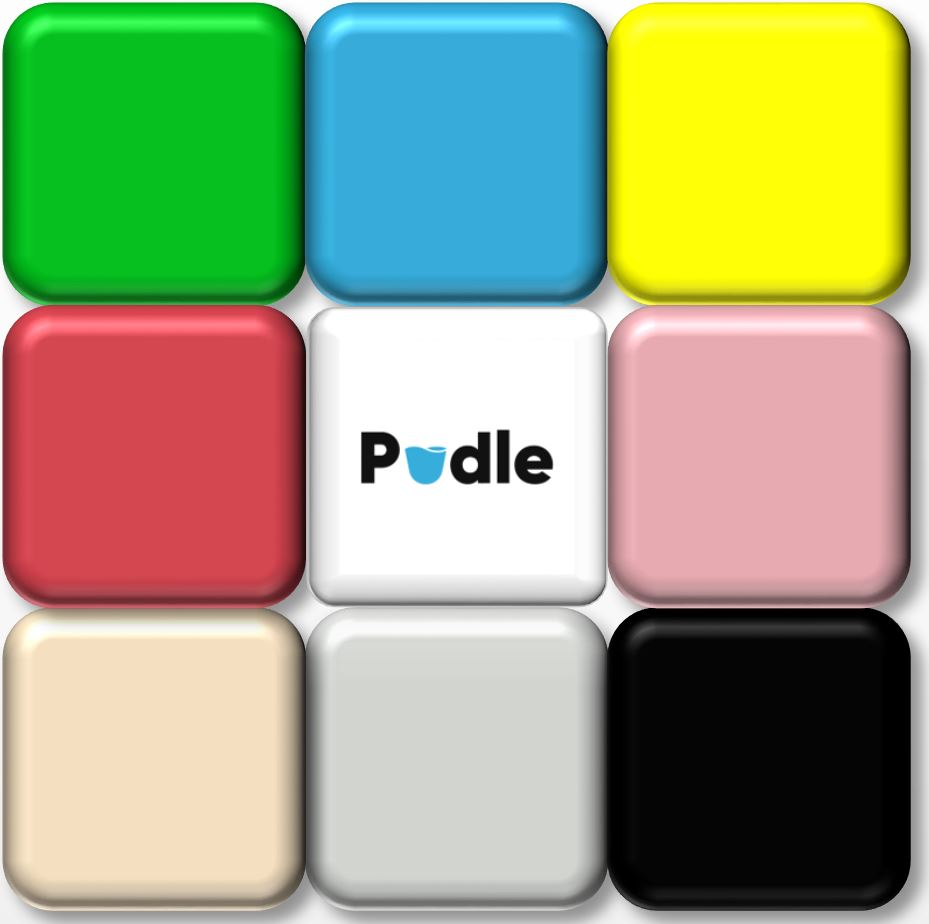 Pudle will be available in many colours starting with Bluebell blue