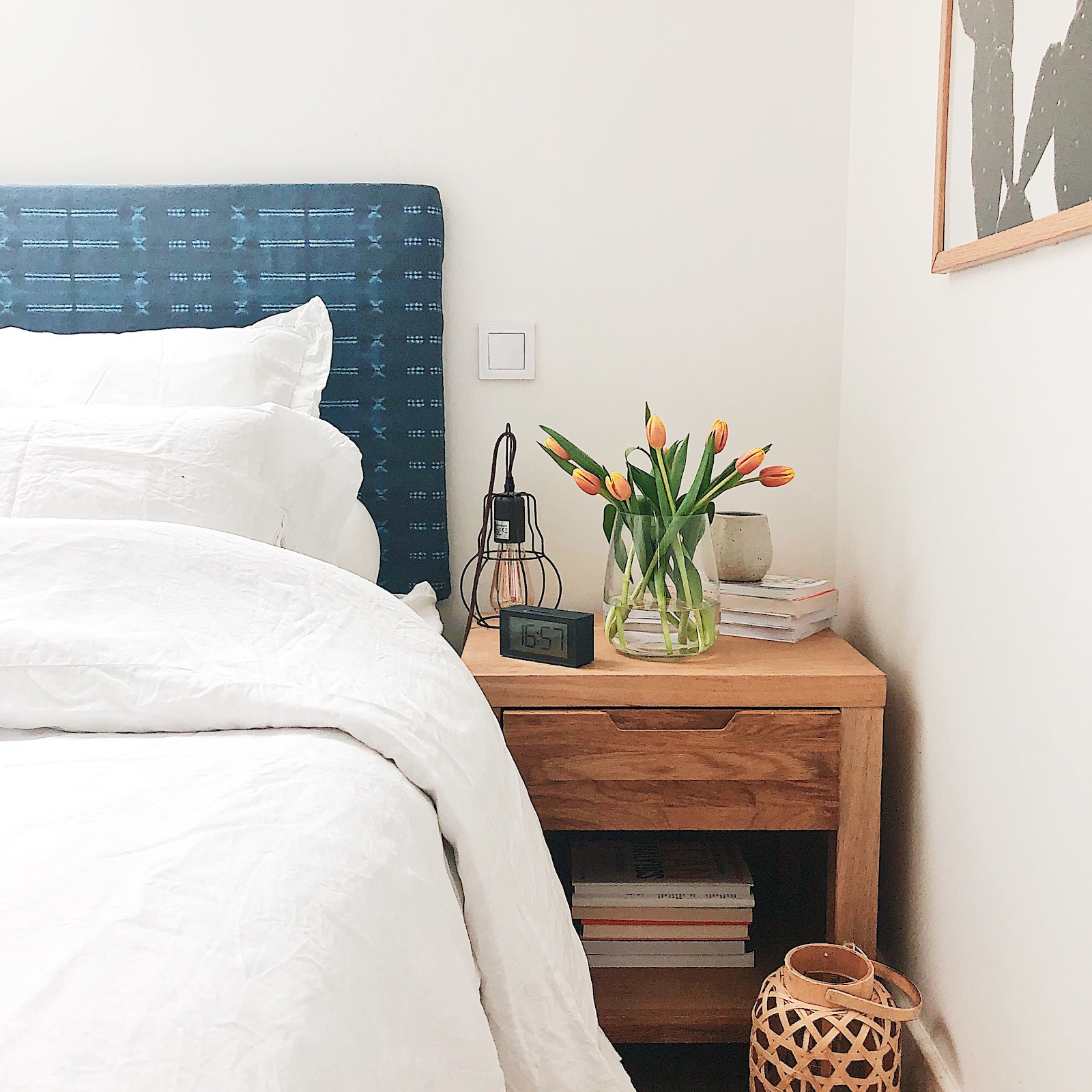 tête-de-lit indigo