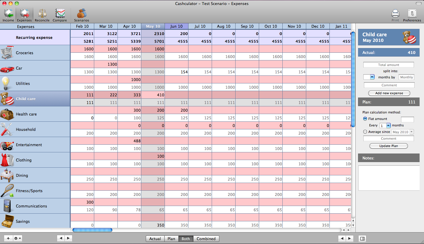 Cashculator Expenses View - SAC student discount.png