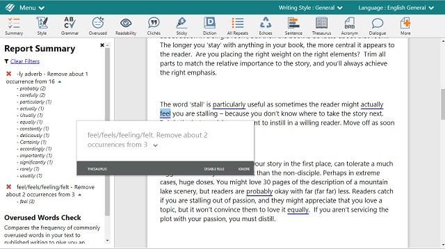 ProWritingAid - Overused words - SAC Student Discount.jpg