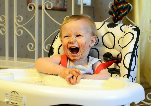 Where should my baby sit during stage 2 weaning by Sarah Almond Bushell - the Children's Nutritionist