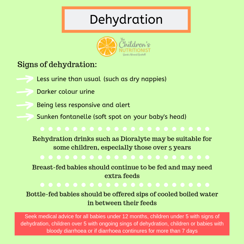 Signs of dehydration with babies