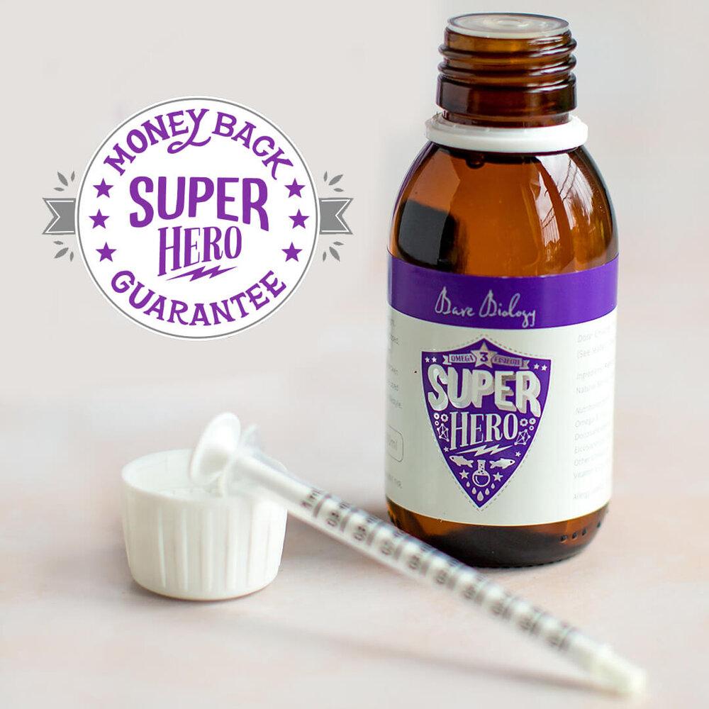 Bare Biology Super Hero supplement for omega 3