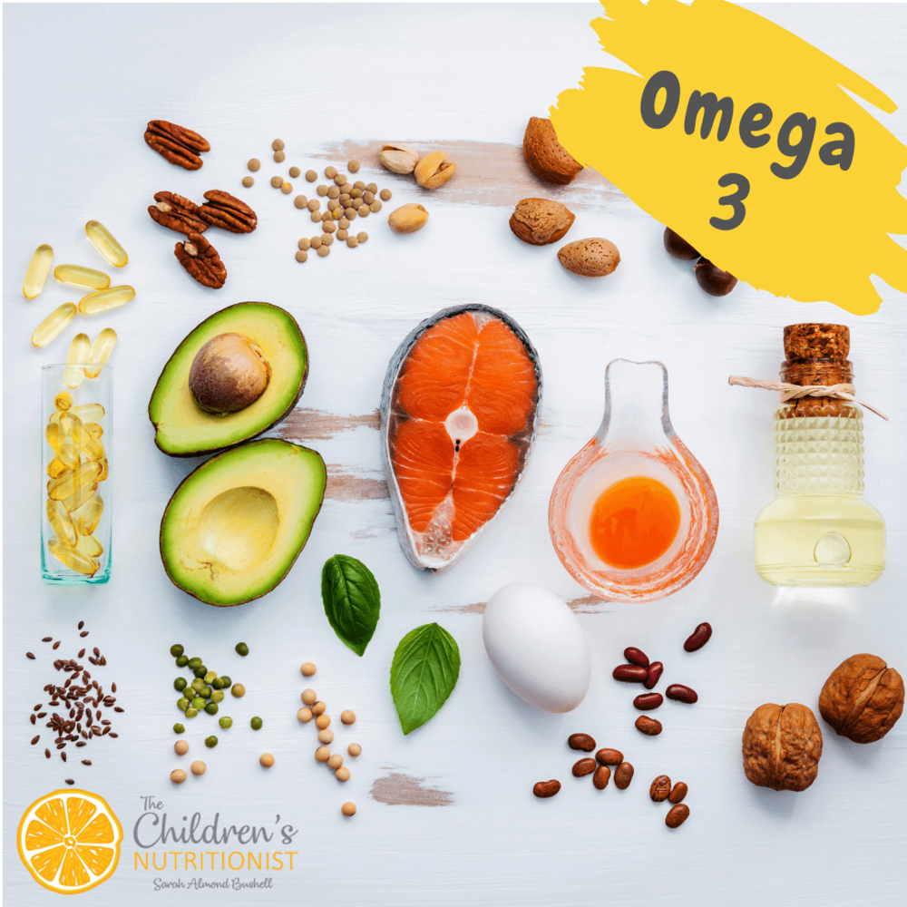 Omega 3 Rich Food for babies by Sarah Almond Bushell - the Children's Nutritionist