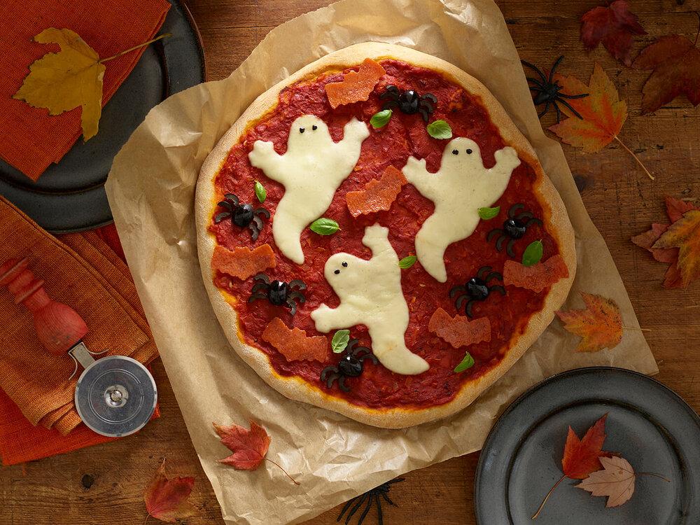 Spooky Pizza recipe by Annabel Karmel