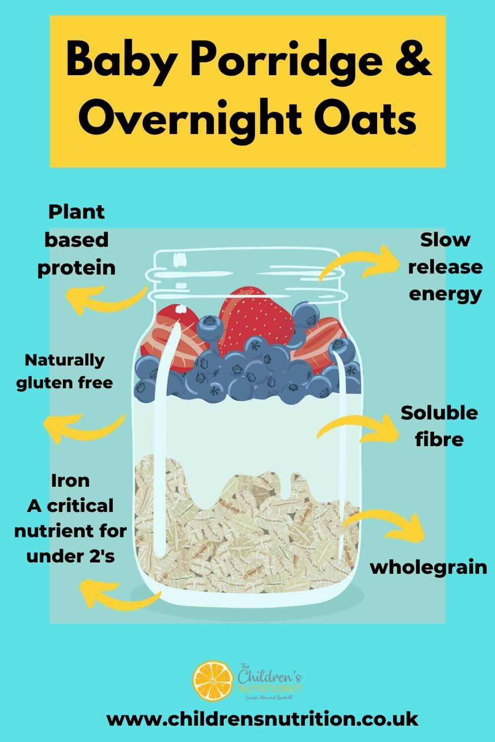 Baby Porridge and overnight oats by Sarah Almond Bushell - the Children's Nutritionist