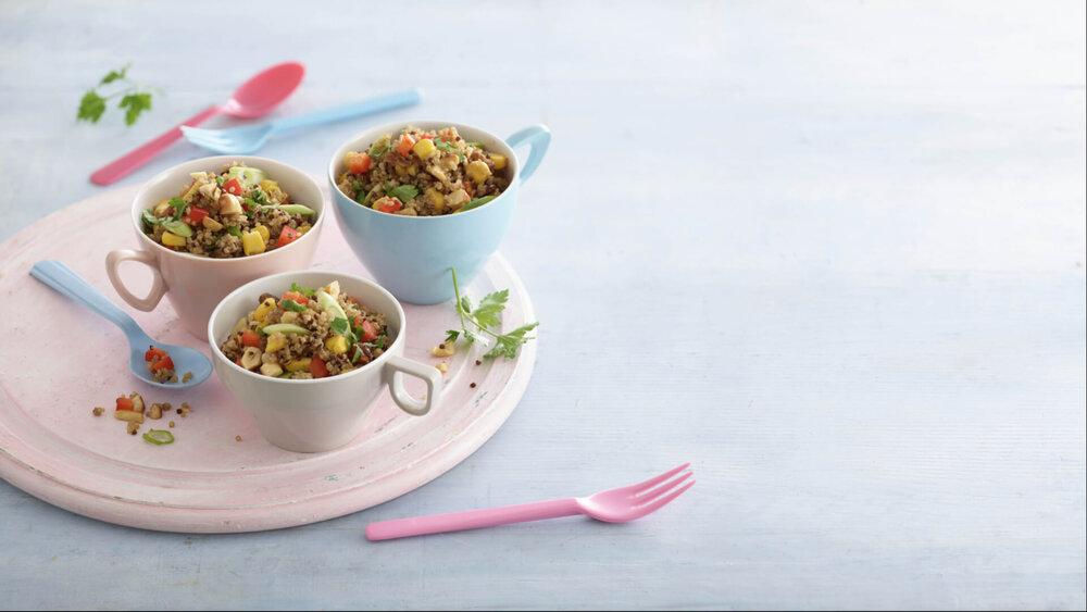 Plant based Quinoa Salad recipe by Annabel Karmel