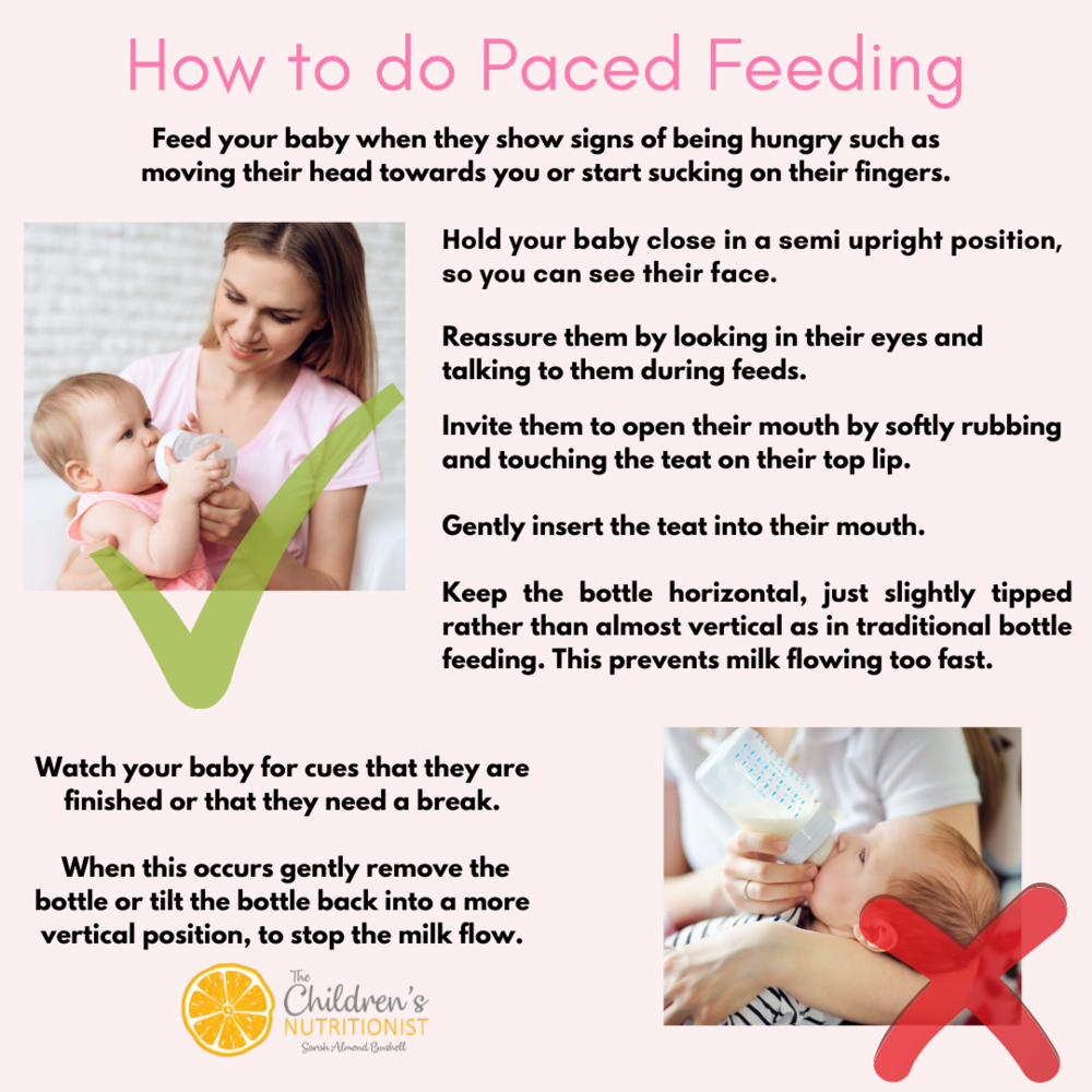 Why you should do Paced Feeding with your baby - by Sarah Almond Bushell, The Children's Nutritionist