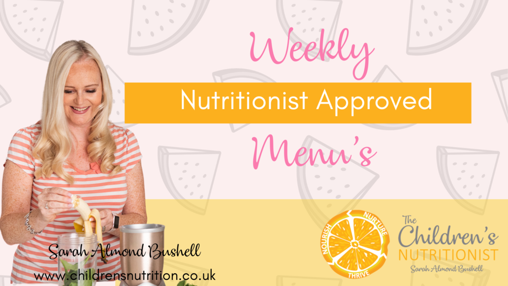 Weekly Nutritionist Approved Menu's