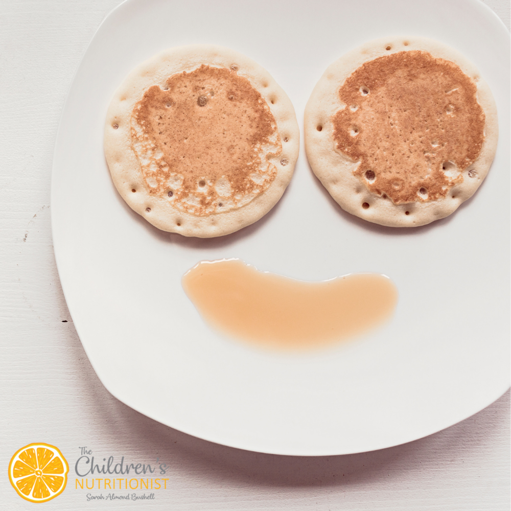 Baby led weaning pancakes by Sarah Almond Bushell - The Children's Nutritionist