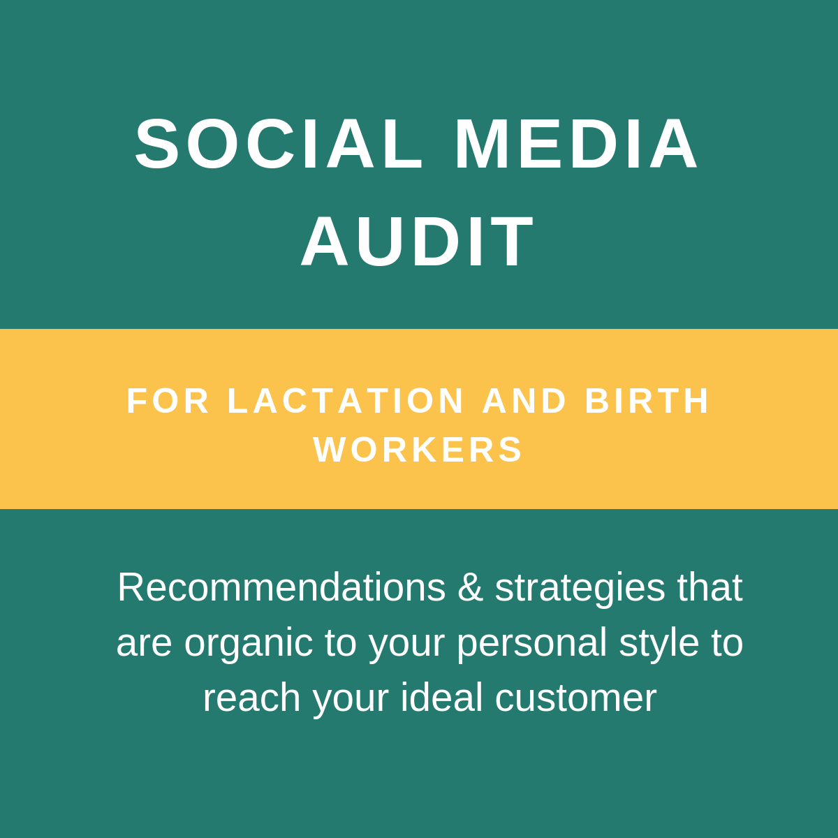 Social Media Audit - Looking for guidance on making your social media platforms work for your private practice goals and your audience? Social media expert Tiara Caldwell LPN, IBCLC is here to help!