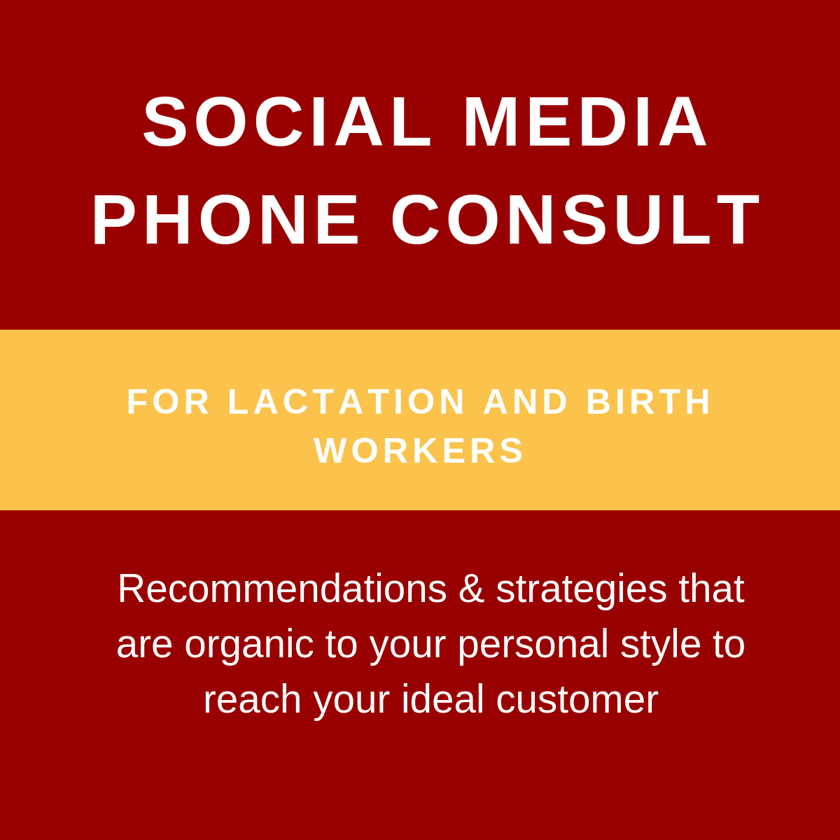 Social Media Phone Consult - In 30 minutes, social media expert Tiara Caldwell LPN IBCLC will answer your questions and provide you with ideas you can implement immediately so that your social media presence is professional, ethical, HIPAA-compliant, and truly expresses who you are.