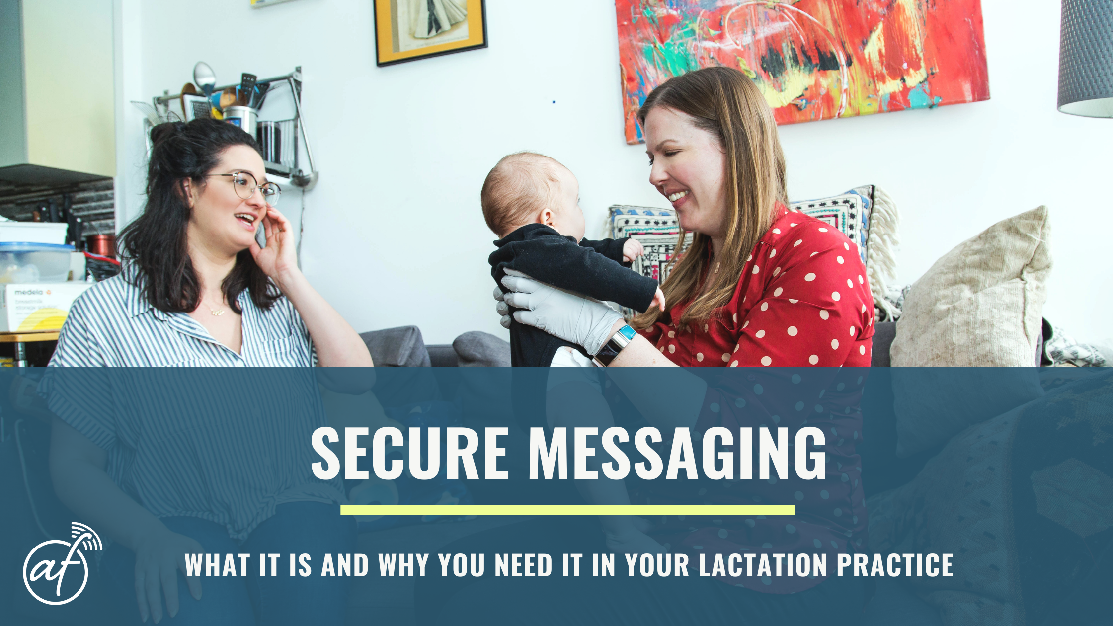 Secure messaging for IBCLC lactation private practice for HIPAA, GDPR, PIPEDA, privacy, healthcare