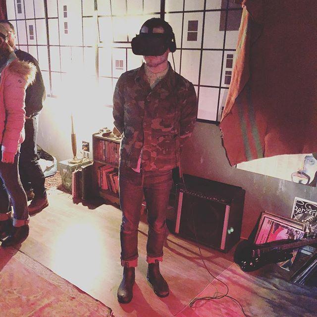 Elijah Wood visiting Lupe & Debbie in BattleScar!!! . . #sundance #elijahwood #battlescarfilm