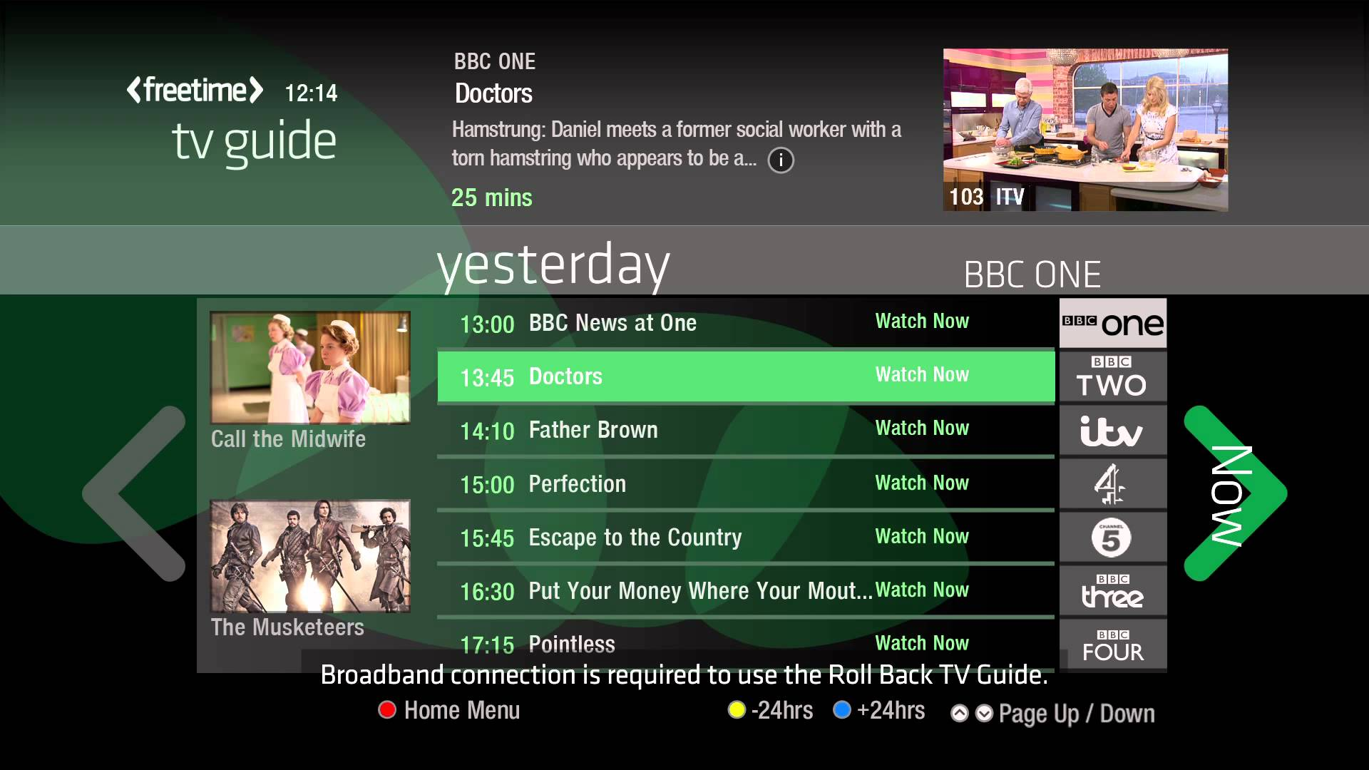 Freesat TV guide