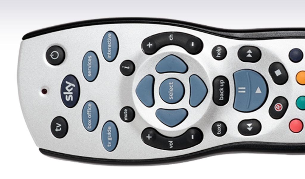 sky HD TV remote