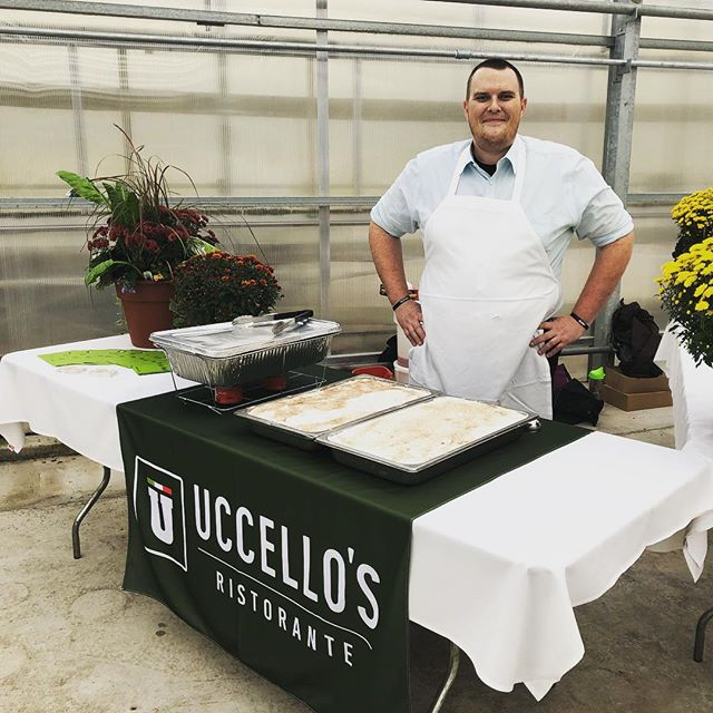Matt (from Caledonia U) is reppin' the Uccello's tonight at @localfirstwestmi's Fork Fest! He is giving tastes of some our housemade Italian classics: Sausage & Peppers and Tiramisu! 🇮🇹 . . . #eatgr #grfoodie #grfood #grandrapids #italian #localfirst #forkfest #grpizza #tiramisu #locallymade #locallyowned #grchamber