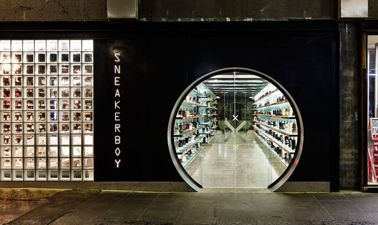 Above: Sneakerboy showroom in Melbourne, Australia.