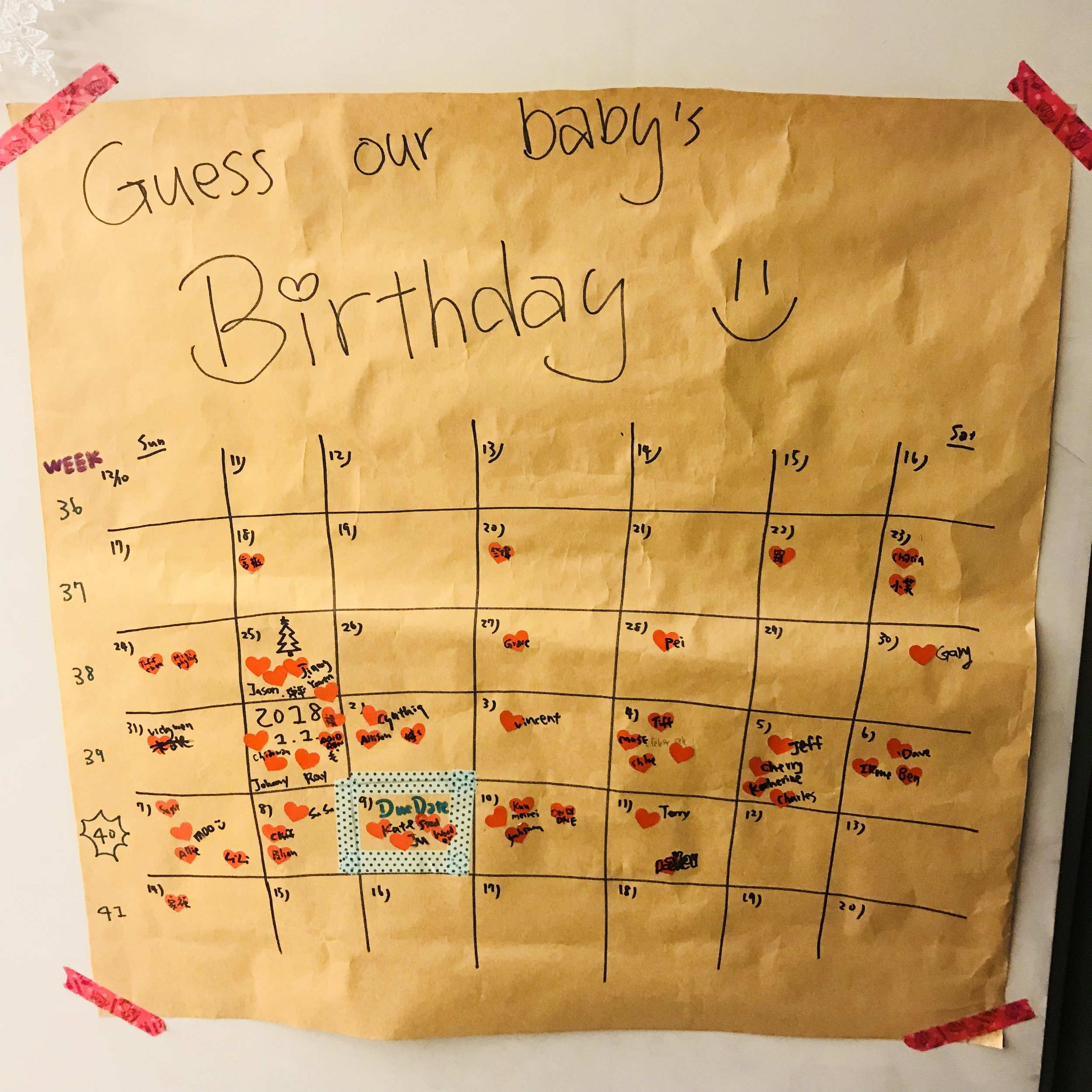 和朋友玩了一個預測兒子生日的遊戲,結果居然沒有人猜對XDDD