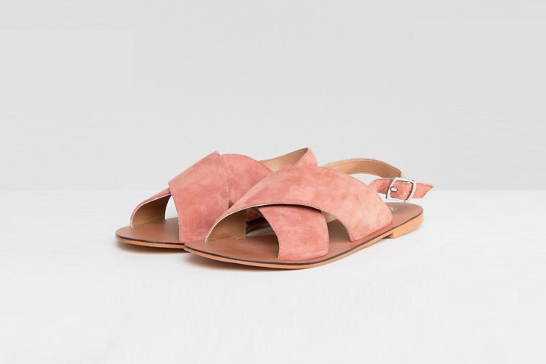 Leather Flat sandals /  ASOS Flicker
