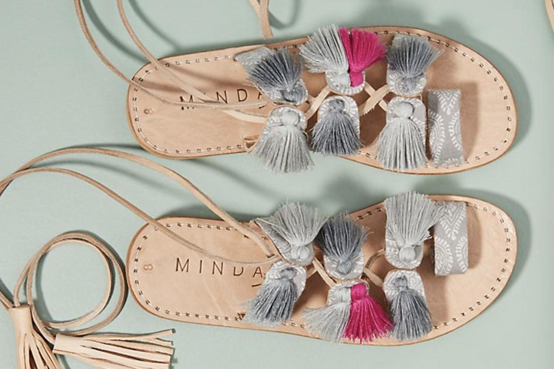 Gladiator sandals /  Minda Living x Anthropologie