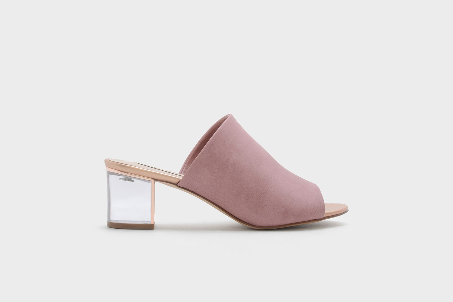 Lucite Heel Mules /  Charles & Keith