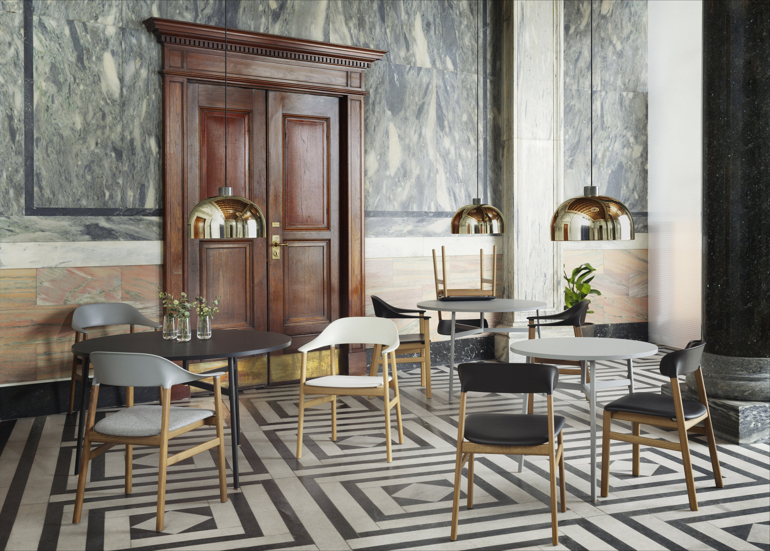 New collection - Union Table, Herit Chair Oak, Grant Pendant by Norman Copenhagen