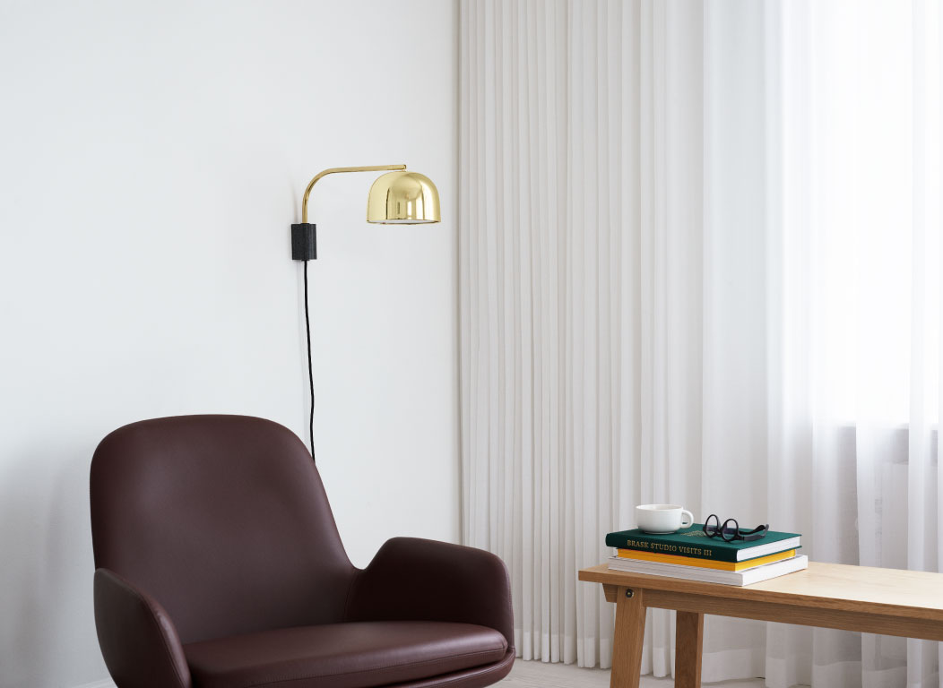 New collection - Grant Wall Lamp, Era Lounge Chair Low Swivel by NORMANN COLLECTION