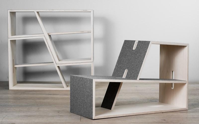 Sitting + Shelf set by  PERLUDI .