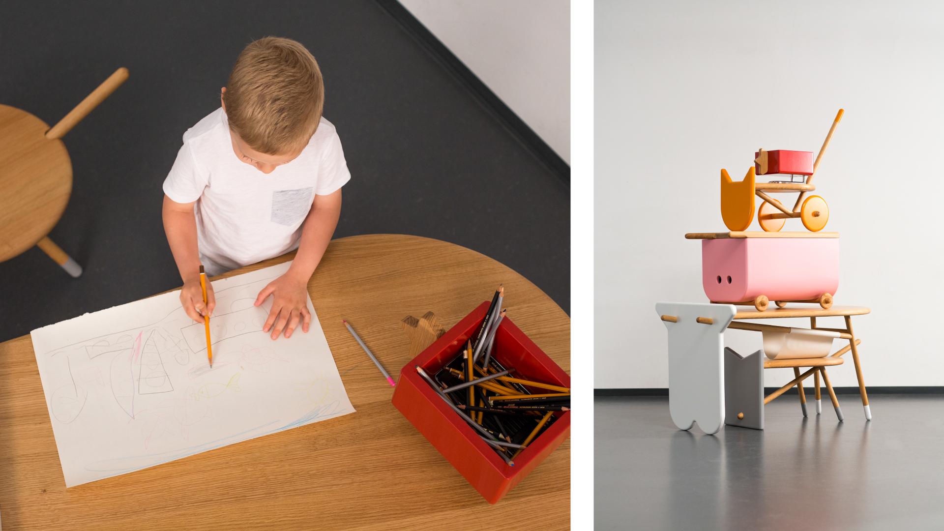Animal-inspired furniture set by  Nataša Njegovanović . Cute and multi-functional!
