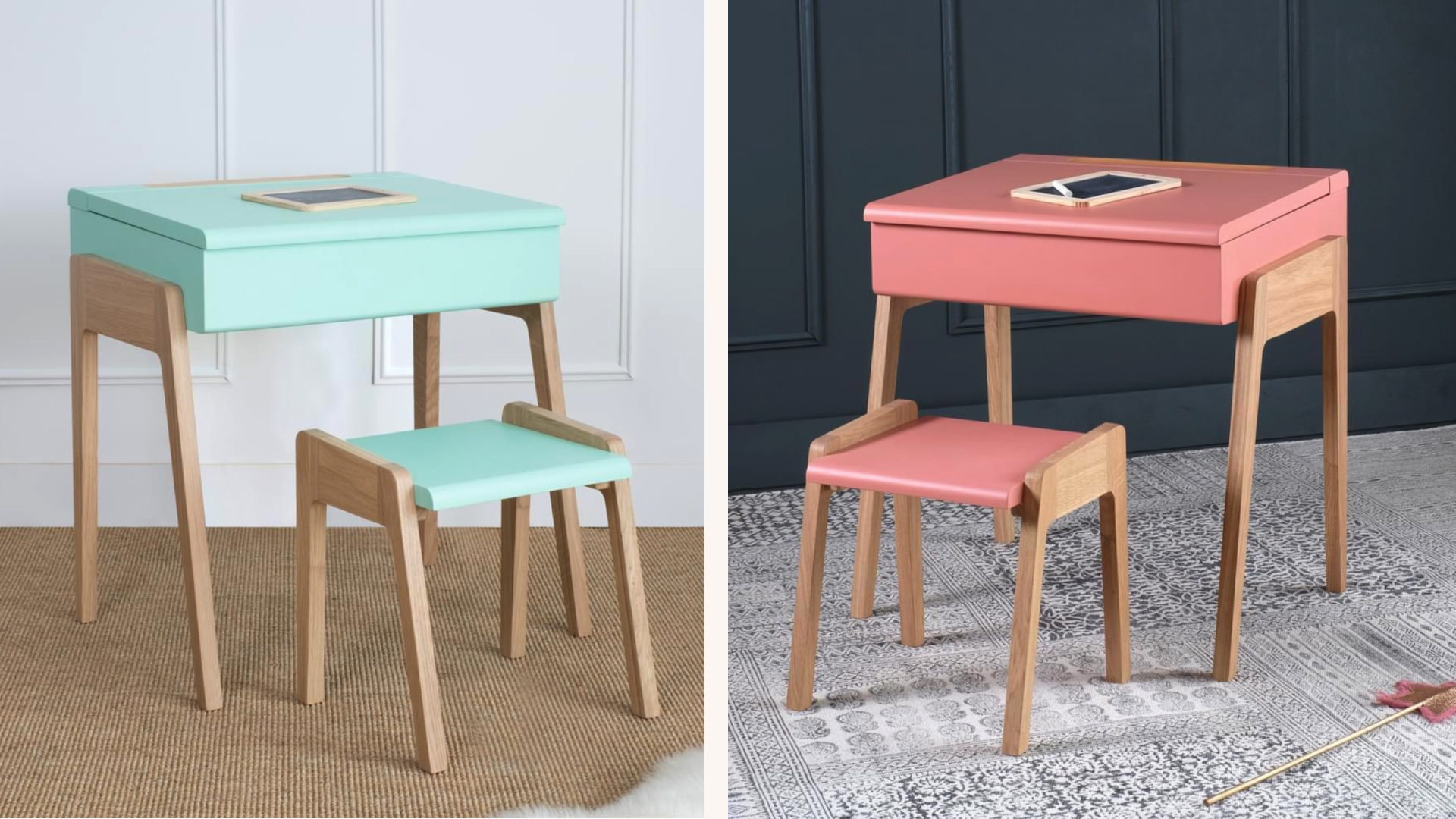 Pastel desk and stool by  Jungle by Jungle .
