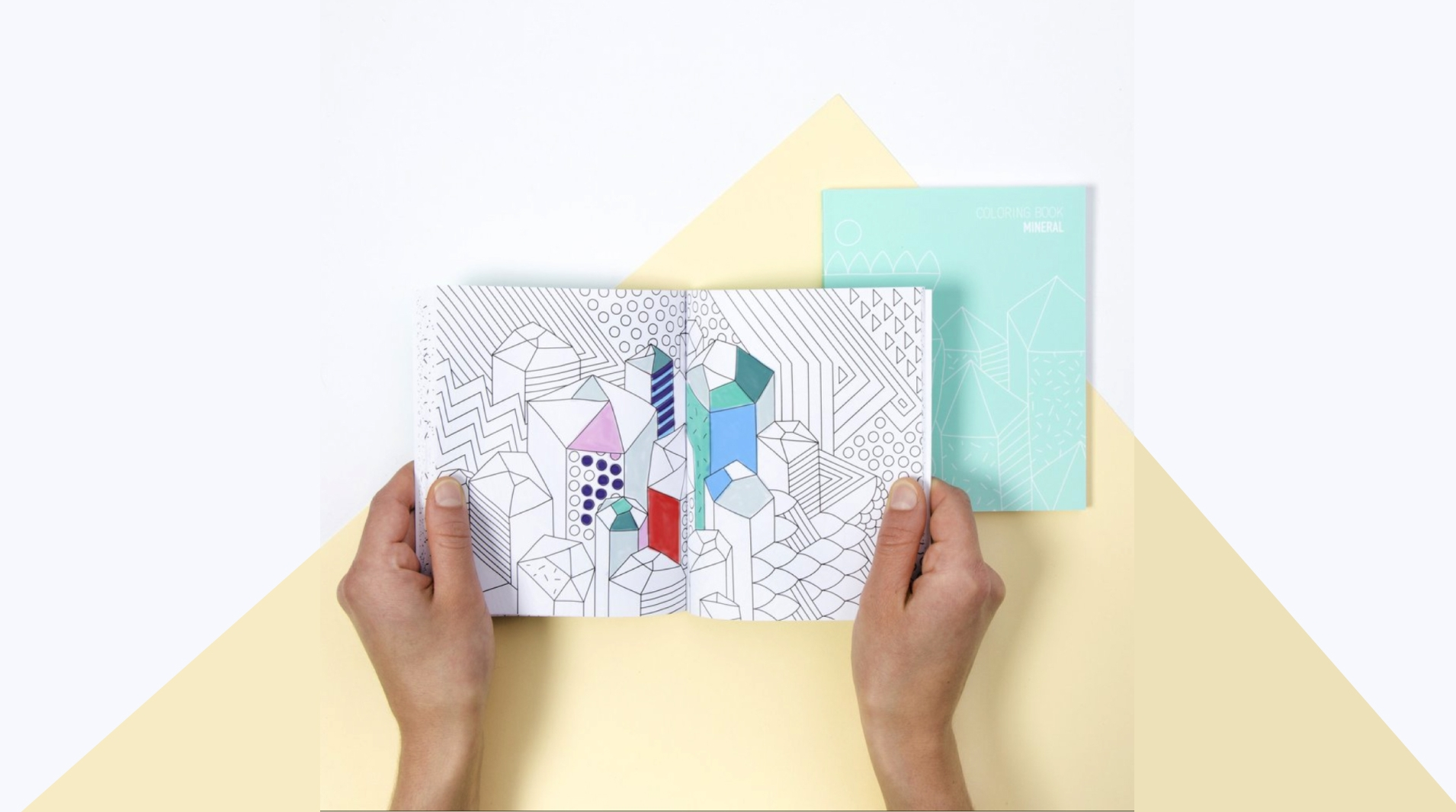 Coloring notebook by  OMY . A fun gift to take everywhere!