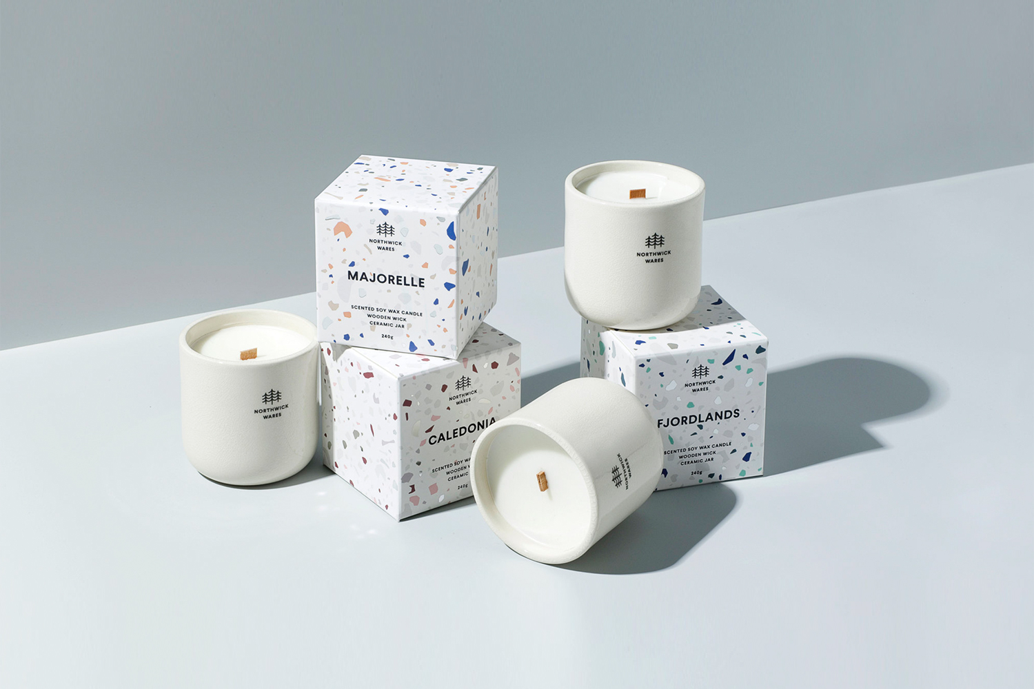 Biodegradable scented candles by  Northwick Wares .
