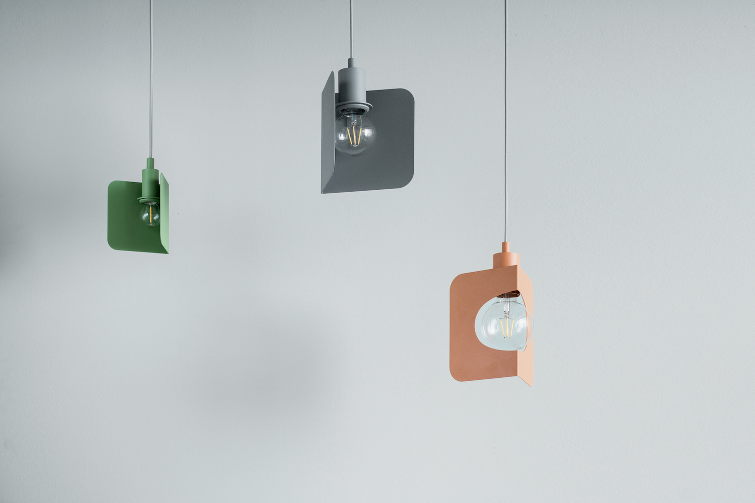 Bring the corners of your house some light and color with the Corner Pendant Lamp by  The Fild .