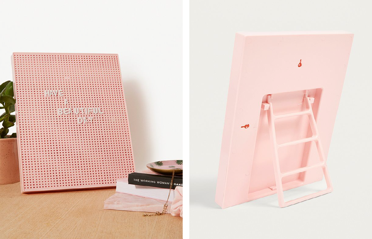 Pink Letter Peg Board  - Official picture