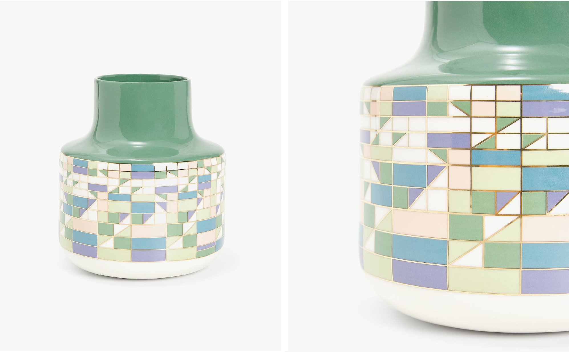 Graphic Print Ceramic Vase  - Official picture
