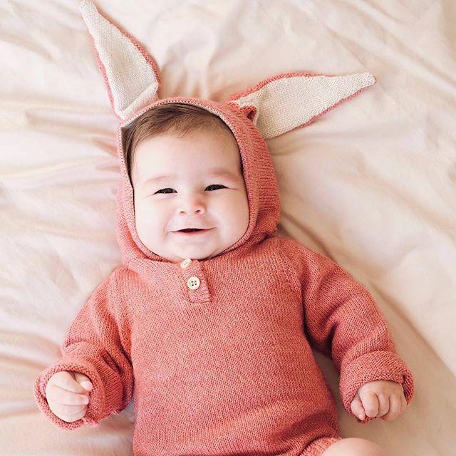 Bunny Hooded Onesie-Rose - Picture by  Li Furtado