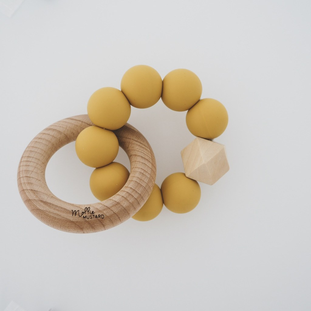 Baby teether -  Mollie Mustard