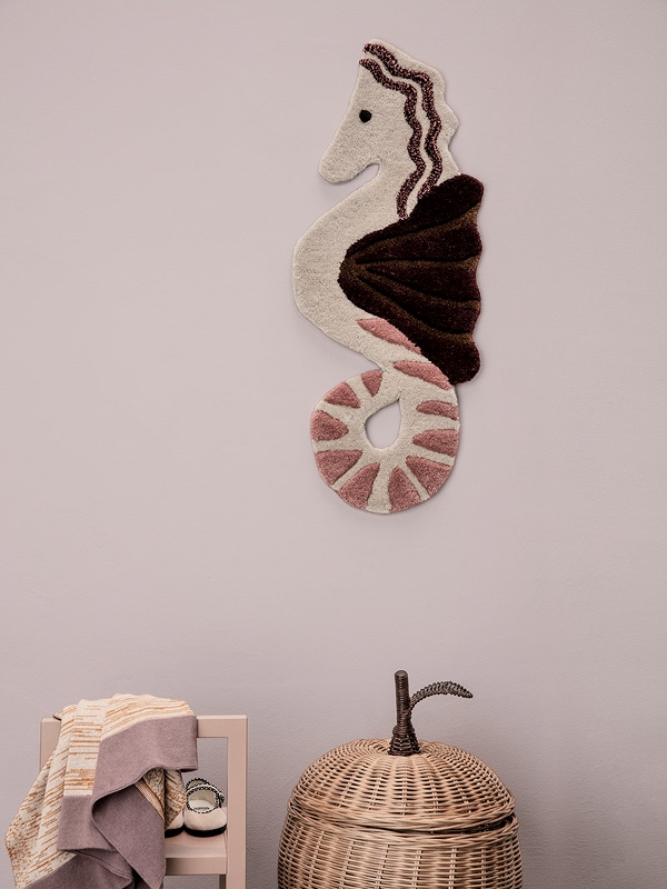 Tufted Wall/Floor Seahorse Decor  by Ferm Living Kids